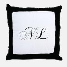 NL-cho black Throw Pillow
