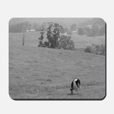Farm Field in Black & White Mousepad