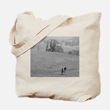 Farm Field in Black & White Tote Bag