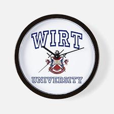 WIRT University Wall Clock