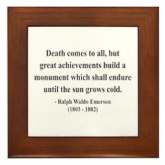 Ralph Waldo Emerson 22 Framed Tile