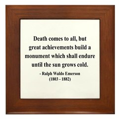 Ralph Waldo Emerson 22 Framed Tile