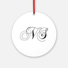 NS-cho black Ornament (Round)