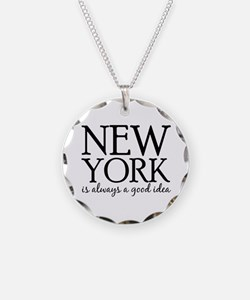 New York Is Always A Good Id Necklace