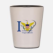 I love Virgin Islands Shot Glass
