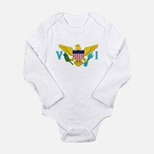 USVI Flag Long Sleeve Infant Bodysuit