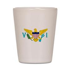 USVI Flag Shot Glass
