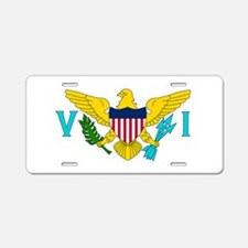USVI Flag Aluminum License Plate