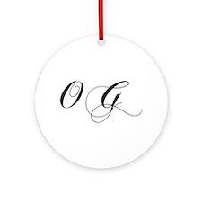 OG-cho black Ornament (Round)