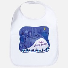 Seattle and Mount Rainier landscape Bib