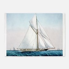 Cutter Yacht Thistle 5'x7'Area Rug