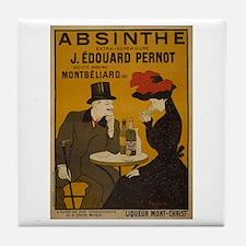 """""""Vintage Absinthe Poster"""" Tile Coaster"""