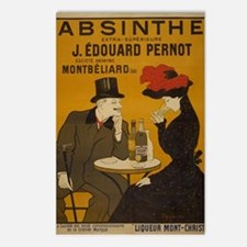"""Vintage Absinthe Poster"" Postcards (Package of 8)"