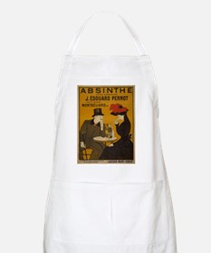 """Vintage Absinthe Poster"" BBQ Apron"