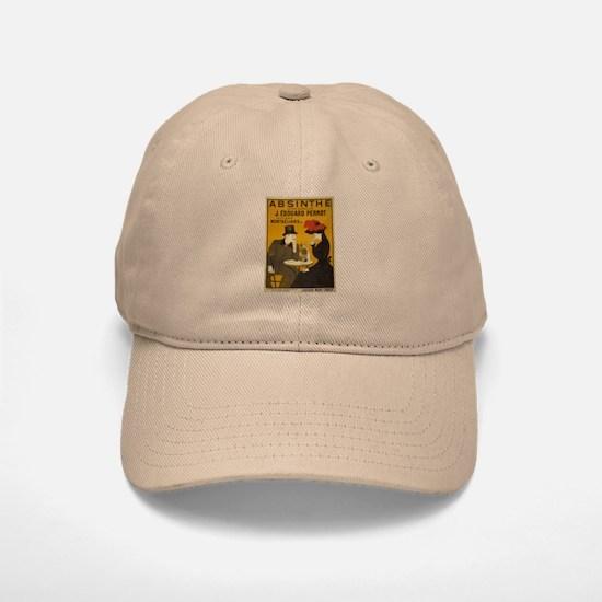 """Vintage Absinthe Poster"" Baseball Baseball Cap"