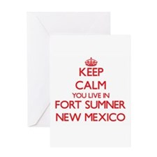 Keep calm you live in Fort Sumner N Greeting Cards