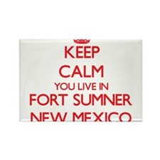 Keep calm you live in Fort Sumner New Mexi Magnets
