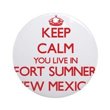 Keep calm you live in Fort Sumner Ornament (Round)