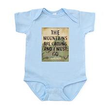 John Muir Mountains Body Suit