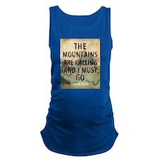 John Muir Mountains Maternity Tank Top