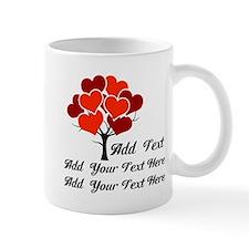 Custom add text Love tree Mug