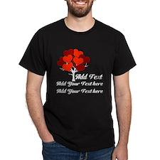 Custom add text Love tree T-Shirt