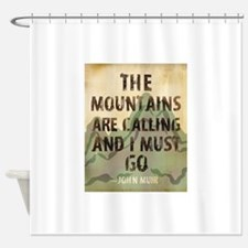 John Muir Mountains Shower Curtain