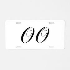 OO-cho black Aluminum License Plate