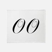 OO-cho black Throw Blanket