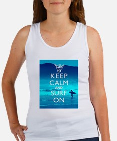 Keep Calm And Surf On Tank Top