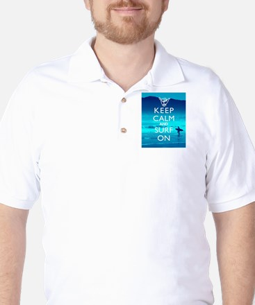 Keep Calm And Surf On Golf Shirt