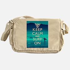 Keep Calm And Surf On Messenger Bag