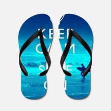 Keep Calm And Surf On Flip Flops