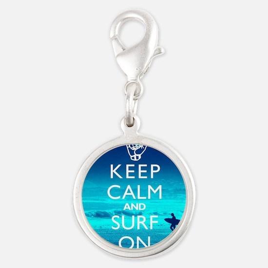 Keep Calm And Surf On Charms