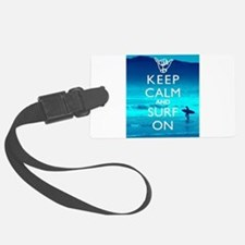 Keep Calm And Surf On Luggage Tag