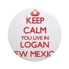 Keep calm you live in Logan New M Ornament (Round)