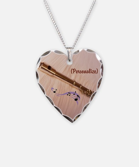 Personalize Flute Notes Necklace