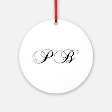 PB-cho black Ornament (Round)
