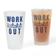 Work out Drinking Glass