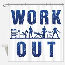 Work out Shower Curtain