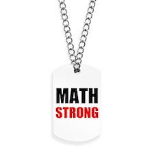 Math Strong Dog Tags