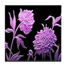 Night Rose Tile Coaster