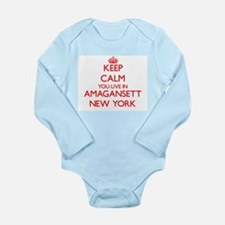 Keep calm you live in Amagansett New Yor Body Suit