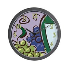 Fruit of the Vine Wall Clock