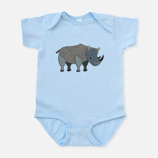 Patchwork Fabric Rhino Body Suit