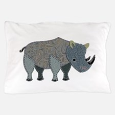 Patchwork Fabric Rhino Pillow Case