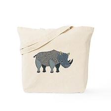 Patchwork Fabric Rhino Tote Bag