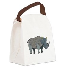 Patchwork Fabric Rhino Canvas Lunch Bag