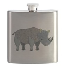 Patchwork Fabric Rhino Flask