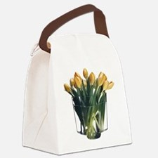 Yellow Tulips in a Glass Vase Canvas Lunch Bag